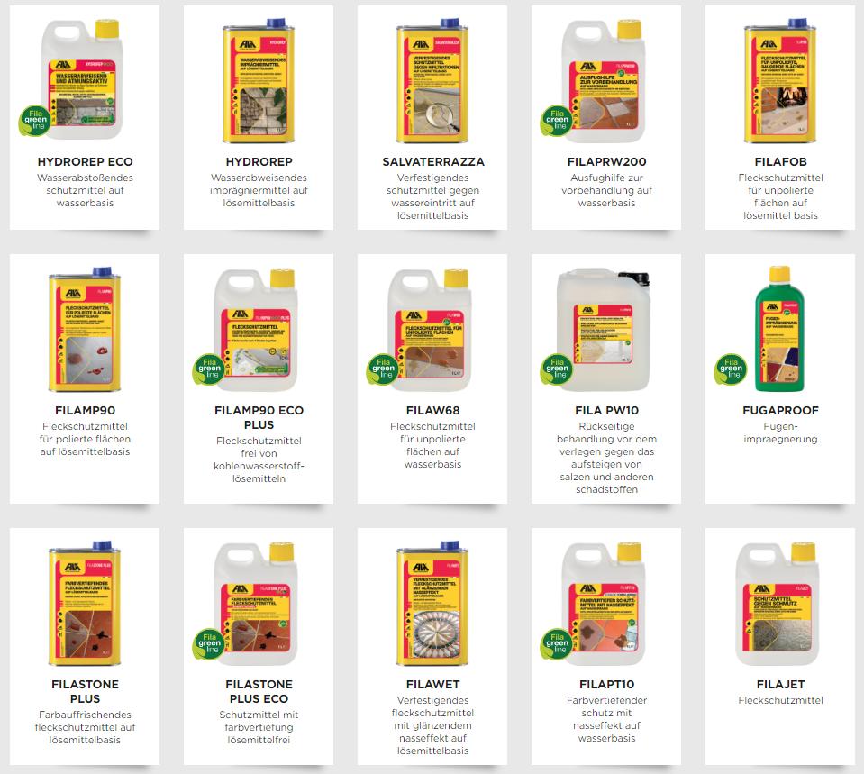 Fila Produkte Schutzmittel